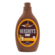 Hershey's Caramel Syrup Bottle - Enjoy the sweet, indulgent caramel flavor for flavored milk, ice cream or to make everyday treats extra special. The perfect addition to any dessert. Chocolate Milkshake, Chocolate Syrup, Chocolate Flavors, Hershey Chocolate, Pink Chocolate, Muesli, Granola, Hershey Syrup, Flavored Milk