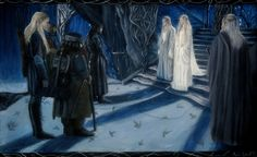 """"""" The Lord and Lady of Light """"  30 x 50 cm  Acrylic on canvas   Inspired with Peter Jackson`s adaptation of the """"Lord of The Rings"""" , amazing three-volume book originally written by my favourite writer,amazing John Ronald Reuel Tolkien.  http://aelinlaer.wix.com/aelin-laer-art  https://www.facebook.com/pages/Aelin-Laer-Fine-Art-Craft/176104605754227?fref=ts"""