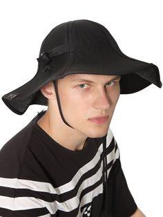 5dfbce535947 Y-3 DURABLE NYLON BUCKET HAT BLACK MEN ACCESSORIES HATS