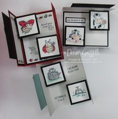 Card Making Tutorials, Card Making Techniques, Fancy Fold Cards, Folded Cards, Pop Up Cards, Cool Cards, Stampin Up, Dawns Stamping Thoughts, Tarjetas Pop Up
