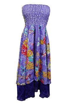 Womens Strapless Dress Two Layer Purple Sari Smocked Bodi... https://www.amazon.com/dp/B01MUUV6AJ/ref=cm_sw_r_pi_dp_x_0oOMybYG4ZVG5