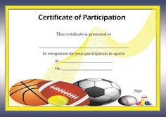 Free Certificate of Partcipation Template Sports Sports Day Certificates, Certificate Of Participation Template, Free Certificates, Live Cricket Tv, Unity Church, Traditional Dresses, African, Templates, Activities