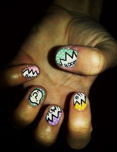Superhero nails