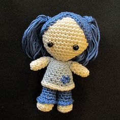 DollyDoll - free crochet pattern - with a few tweaks this could be cute