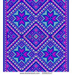 Embroidery. Ukrainian national ornament decoration. Vector illustration Cross Stitch Designs, Cross Stitch Patterns, Sacred Geometry Art, Beaded Banners, Plastic Canvas Tissue Boxes, Perler Bead Art, Vintage Quilts, Bead Crochet Rope, Crochet Designs