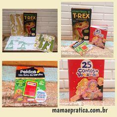 """Chegaram por aqui diferentes livrinhos da editora Girassol Brasil: """"25 contos da vovozinha"""", livro ilustrado que reúne clássicos como Pinóquio e O Mágico de Oz;  """"Construa o T-Rex e entre no mundo dos Dinossauros"""" que vem com 49 peças para montar o dinossauro; e """"Peidos - um livro do barulho"""" que fala de maneira bem humorada sobre o tema e vem com um peidômetro (os meninos se divertem kkk). Diversão garantida para as crianças! #ficaadica #livroinfantil #filhos #diversao #chegounaredacao"""
