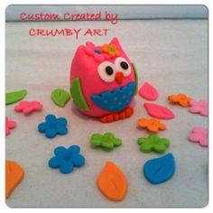 Owl Smash cake topper www.HauteTart.Etsy.com