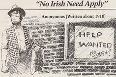 Discrimination against Irish immigrants. Discrimination shares itself with any and all. History Class, Family History, Irish Famine, Irish Slavery Myth, Gil Scott Heron, Irish Catholic, 5th Grade Social Studies, Irish People, Irish