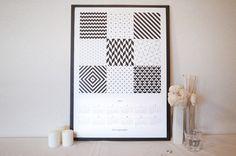 幾何学模様 2015カレンダー02