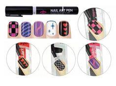 3d Nail Art, Nail Art Salon, Pink Nail Art, 3d Nails, Nail Polish Pens, Acrylic Paint Pens, Professional Nail Art, Party Nails, Pen Sets