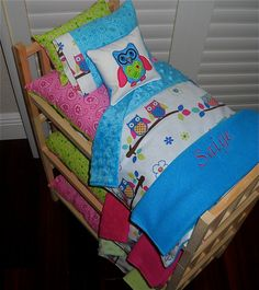 TRIPLE Doll Bunk Bed Separates with OWL by Dollbeddingboutique, $210.50