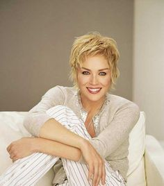 Best Sharon Stone Short Hairstyles, The Development In The Fields Of Vogue  And Films Has Completely Altered The Trend In Hairstyling.