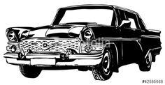 Vector: Retro car, vector illustration