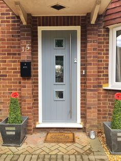 Stunning Solidor Composite Door Fitted by us in Woking House Front Porch, Front Porches, Solidor Door, Entrance Doors, Front Doors, Composite Front Door, Front Door Design, Exterior Doors, Windows And Doors