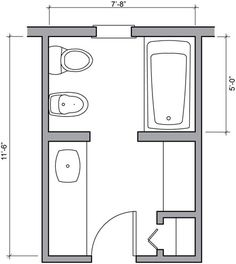 Half Bath Floor Plan Ideas 24 Square Foot Half Bath With Lavatory Water Closet Bathrooms
