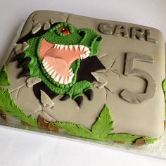 T-rex dinosaur cake - For all your cake decorating supplies, please visit craftcompany.co.uk