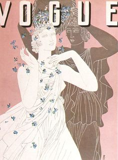 British 'Vogue' February 1932, illustration by Eduardo Benito in 'The Art of Vogue Covers'...