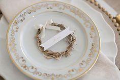 mesa posta dourada e