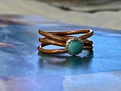 Copper Turquoise Ring Handmade/ Gemstone copper ring by JoyLaRoseJewelry Copper Rings, Copper Jewelry, Sterling Silver Flowers, Sterling Silver Rings, Celebrity Shoes, Thumb Rings, Handmade Copper, Boho Rings, Ankle Booties
