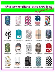 We've got a Jamberry Nail Wrap design for EVERY personality...which is YOUR favorite??? Check out the rest of our Spring/Summer collection at http://www.eazymomsnails.jamberrynails.net/