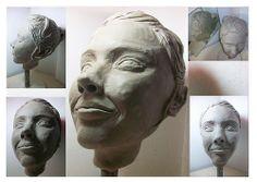 Modelado en Arcilla de mi cabeza - 2009 - Morfologia I Pescio - Jordan Vanina Lourdes