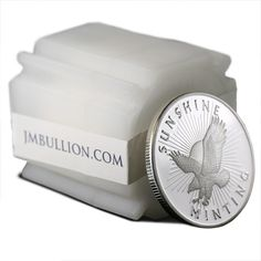 1 oz Sunshine Silver Round Tubes of 10 Online (New) from JM Bullion™ Foreign Coins, Silver Rounds, 1 Oz, Tube, Sunshine, Pure Products, Money, American, Paper