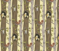 Tree Party fabric by ceanirminger on Spoonflower - custom fabric