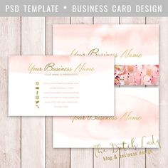 Business Card Template For Photoshop Templates ////// THE PRODUCTPlease note that this product consists of digital files. No physical products wi by The Dutch Lady Designs