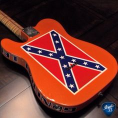 A guitar for the good 'ol boys! #dukesofhazzard #generallee #telecaster Learn to play guitar online at www.studio33guitarlessons.com