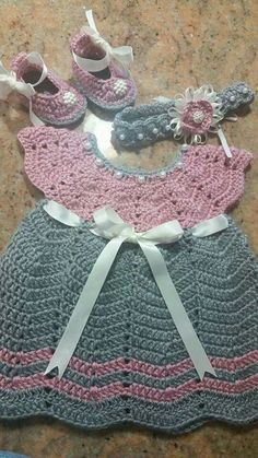 Crochet Chevron Baby Dress