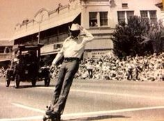 Don Monaco Modesto CA - Gas Powered Skateboard (35mph)circa 1967 - both still run today but Don spends his time building racecars and flying his plane (82 years old)