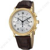 montre cuir brun chrono persuasion frederique constant   http://www.bijouterie-bassereau.com/nos-marques/marques-vendues-en-ligne/frederique-constant-1.html