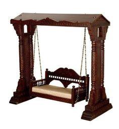 Wood Carved Swing MAHARAJA #woodenswingonlinepurchase  #woodenindoorswing  #woodenjhulaforlivingroom  #jhoolaswing #indianindoorswing  #indianjhoolaforsale #indoorswingsbangalore  #woodenjhooladesigns Indian Swing, Marble Carving, Wooden Swings, Indian Furniture, Carving Designs, Traditional Furniture, Teak Wood, Types Of Wood, Bed Design