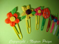 nupur creatives: Quilled Bookmarks 2