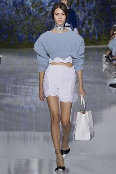 Dior - SS2016 Pale blue for 2016 and such an amazing sweater / jumper! Love! #threesistersknit #etsyseller