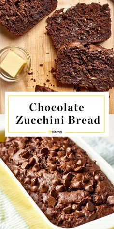 Home Made Doggy Foodstuff FAQ's And Ideas Recipe: Double Chocolate Zucchini Bread Dessert Recipes From The Kitchn Köstliche Desserts, Delicious Desserts, Dessert Recipes, Yummy Food, French Desserts, Dessert Bread, Plated Desserts, Zucchini Bread Recipes, Recipe Zucchini