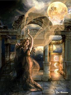 ...resides in time...  Moon Woman. . .  #moon #luna #selene #goddess #wicca #pagan