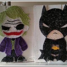 joker batman string art all strung up