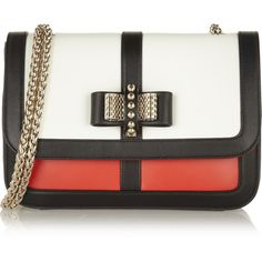 Christian Louboutin Sweet Charity leather shoulder bag found on Polyvore