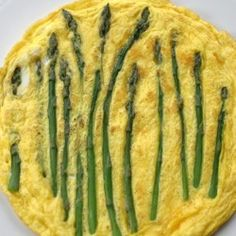 For asparagus season:  a classic frittata for breakfast or lunch.