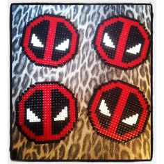 Deadpool coasters hama beads by bibim0n