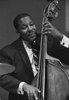 Photo of Gene Wright performing in Newport, Rhode Island. Circa 1967