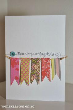 wenskaarten en zo: Een verjaardagskaartje Washi Tape Cards, Diy Cards, Diy Gifts, Cardmaking, Diy And Crafts, Projects To Try, Greeting Cards, Scrapbook, Crafty