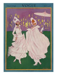 Vogue Cover - August 1914 Premium Giclee Print