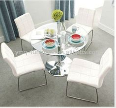 Our Top Selling Dining Room Set Ta054&ty054 - Buy Dining Room Set,Clear Glass Top Dining Table,Round Dining Tables Product on Alibaba.com