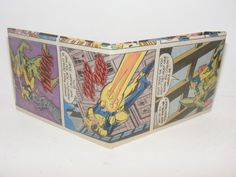 Comic Book Wallet// Booster Gold vs a robot, $3.50