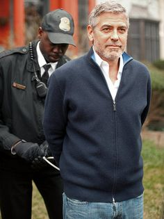 "George Clooney ""Arrest casual"" look. He's shorter than I am....but, I'd still ""Hit It"" -especially with the handcuffs.... ;=))"