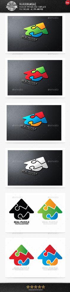 Buy Real Puzzle Logo by mamanamsai on GraphicRiver. Real Puzzle Logo Files Include: AI - 2 AI Files for Illustrator CS and Illustrator 10 EPS - 2 EPS Files for I. 3d Logo, Logo Branding, Logo Design Template, Logo Templates, Puzzle Logo, Learning Logo, Real Estate Logo Design, Cloud Photos, Business Logo