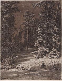 Winter moonlit night. 1876-1892 30, 5h23. 5. Ivan Ivanovich Shishkin