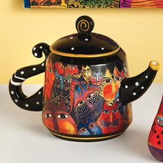 Laurel Burch Teapot
